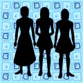 Silhouettes of women Royalty Free Stock Image