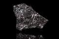 Silicon stone, chemical element, black background