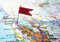 Silicon valley flag map of the area of california Stock Photos