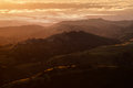 Silicon valley view of the at sunset from mount hamilton Stock Photo