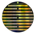 Silicon wafer circular with microchips Stock Photography