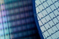 Silicon wafers macro of low dof Royalty Free Stock Photo