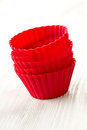Silicone baking cups Royalty Free Stock Photos