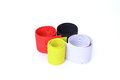Silicone rubber colorful for lure fishing on white background Royalty Free Stock Photography