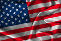Silk American Flag Stock Photo
