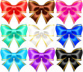 Silk bows with golden edging vector illustration eps rgb created gradient mesh Stock Photo