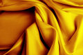Silk closeup of rippled fabric Stock Images