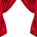 Silk curtains isolated on white background Stock Images