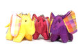Silk elephant toy Stock Photos