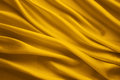 Silk Fabric Background, Yellow Satin Cloth Waves Sheets