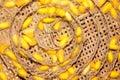 Silk making cambodia Stock Photo