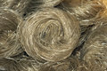 Silk noodles the close up rolls of bean vermicelli Stock Image