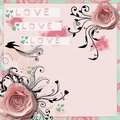 Silk roses abstract love wallpaper Stock Image