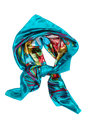 Silk scarf, isolate Royalty Free Stock Photo