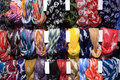 Silk scarves Royalty Free Stock Photography