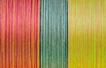 Silk thread in spool Royalty Free Stock Image