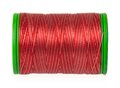 Silk threads red on a coils isolated on white background close up Royalty Free Stock Image