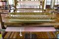 Silk weaving loom Royalty Free Stock Photo