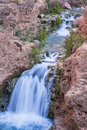 Silky Havasu Creek Waterfall Royalty Free Stock Photo