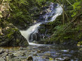 Silky macintosh brook a long exposure of falls off the cabot trail in cape breton highlands national park nova scotia Royalty Free Stock Photography
