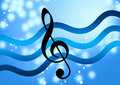 Silky Music Note Royalty Free Stock Photography