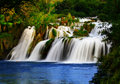 A silky waterfall Royalty Free Stock Photo