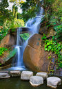 Silky waterfall, Xiamen China Royalty Free Stock Photography