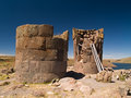 Sillustani Funeral Towers Royalty Free Stock Images