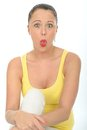 Silly Crazy Funny Attractive Young Woman Portrait Pulling Silly Facial Expression Royalty Free Stock Photo