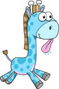 Silly Goofy Blue Giraffe Vector Stock Photos