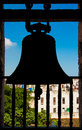 Silohuette of a bell with a view of Havana Stock Photos