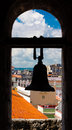 Silohuette of a bell with a view of Havana Royalty Free Stock Photography