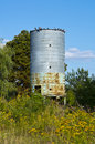 Silos for grain tank and green Stock Images