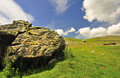 Silurian Boulder, Yorkshire Dales Stock Photography