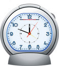 Silver alarm clock illustratoin Royalty Free Stock Photos