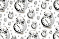 Silver alarm clocks close up image Royalty Free Stock Photo