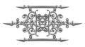 Silver alloy pattern Royalty Free Stock Photo