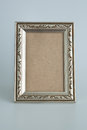 Silver antique frame decorative isolated Stock Images
