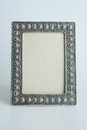 Silver antique frame decorative isolated Royalty Free Stock Photo