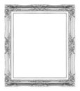 Silver antique picture frames. Isolated on white Royalty Free Stock Photo