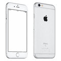 Silver Apple iPhone 6S mockup slightly rotated front view