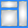 Silver banner in golden frame Royalty Free Stock Photo