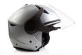 Silver bike helmet isolated Stock Photography