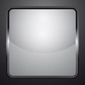 Silver black and white shaded icon illustration Royalty Free Stock Images