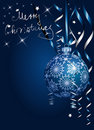 Silver blue Christmas Royalty Free Stock Photo
