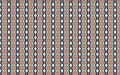 Silver blue pink repeated textile geometries, abstract fractal, design