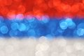 Silver, blue, red horizontal stripes abstract background