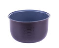 Silver bowl with measuring scoop Royalty Free Stock Photo