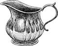 Silver bowl vector drawing of the ancient Royalty Free Stock Image