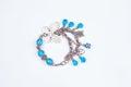 Silver Butterfly Girly Blue Bracelet Royalty Free Stock Photo